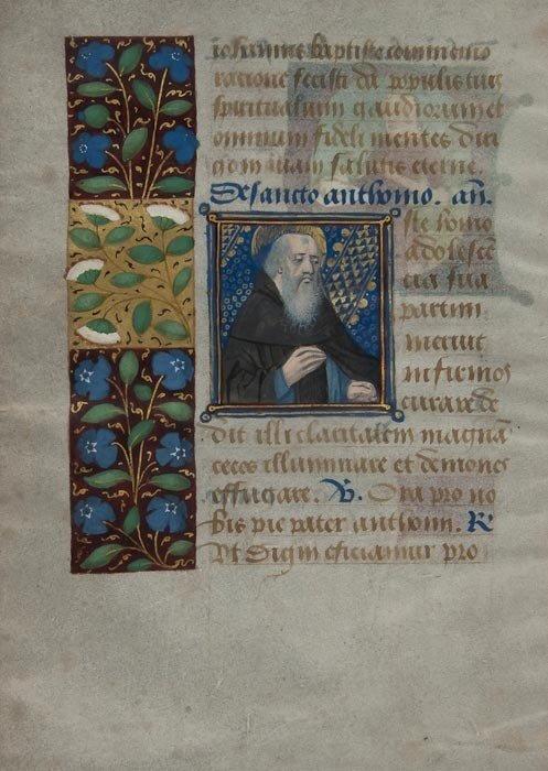 5: St. John the Baptist, St. Anthony, single leaf fro