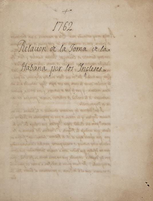 24: Seven Years War.- Battle of Havana. Relacion ce la