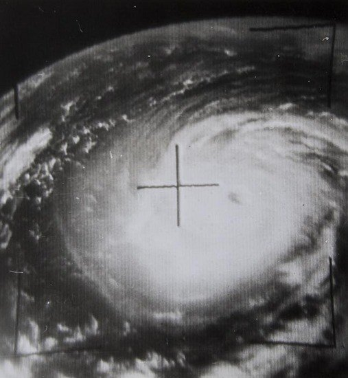 7: Typhoon Amy in the Pacific Ocean from Tiros 5, Au