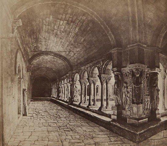 4: Édouard Baldus (1813-1889) The Cloisters of Saint