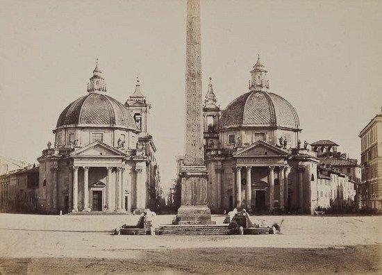 16: Tommaso Cuccioni (1790-1864) Piazza del Popolo, Ro