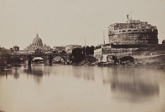 18: Tommaso Cuccioni (1790-1864) The Tiber and the Cas