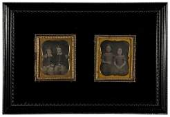 124 Photographer Unknown Two Daguerreotypes of Two Pai