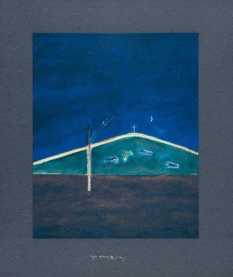 4: Craigie Aitchison (1926-2009) Sheep in the Moonlig