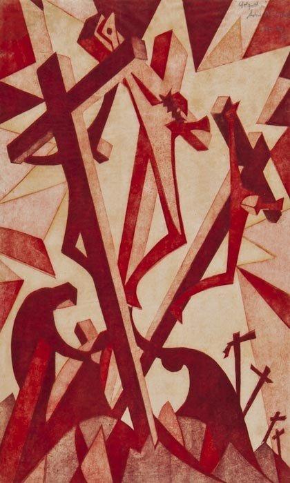 5: Sybil Andrews (1898-1992) Golgotha (C.S.A.15)