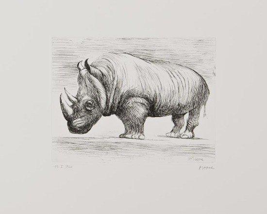 19: Henry Moore (1898-1986) Rhinoceros (C.634)
