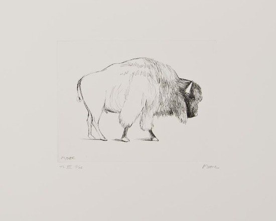 20: Henry Moore (1898-1986) Bison (C.640)