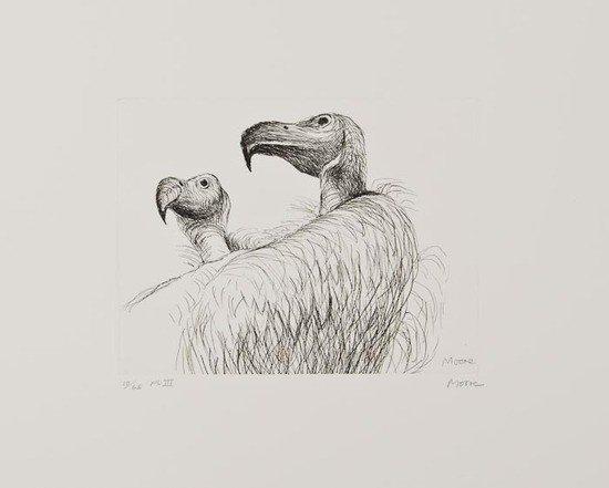 22: Henry Moore (1898-1986) Vultures (C.636)