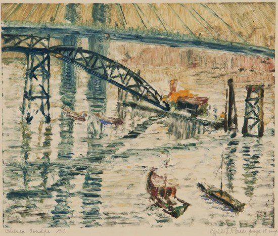 40: Cyril Edward Power (1874-1951) Chelsea Bridge No2