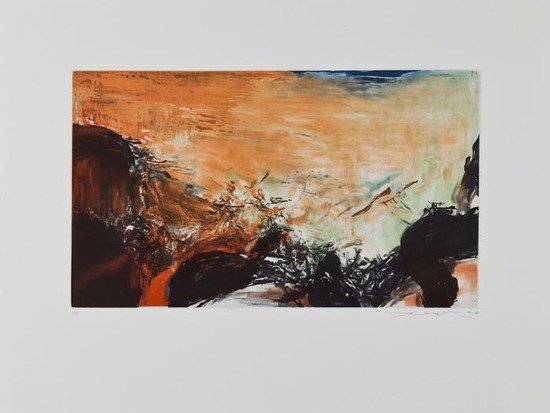 147: Zao Wou-Ki (b.1921) Composition