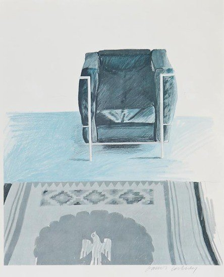 200: David Hockney (b.1937)(after) Corbusier Chair and