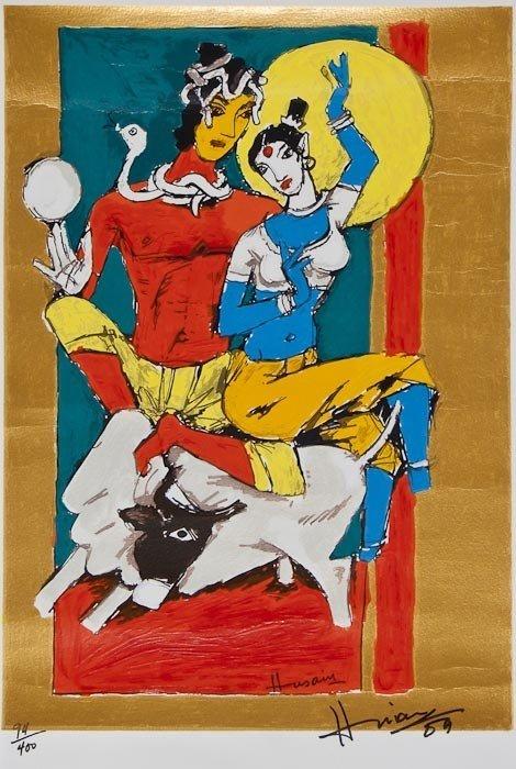 203: Maqbool Fida Husain (1915-2011) Untitled