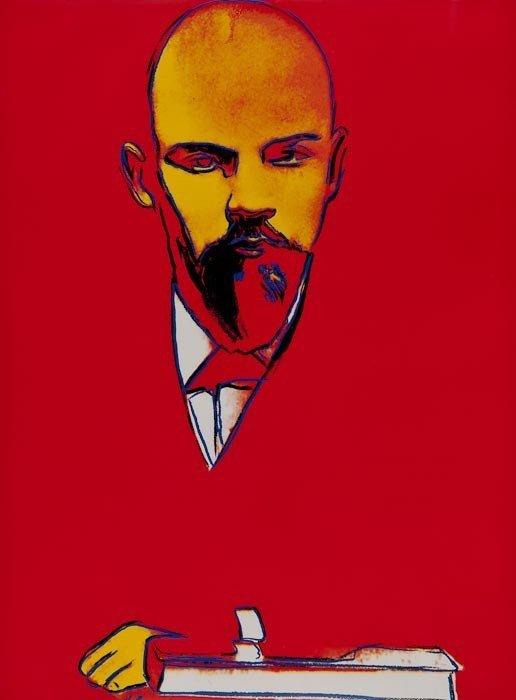 308: Andy Warhol (1928-1987) Red Lenin (F.&S.II.403)