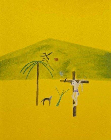 2: Craigie Aitchison (1926-2009) Indian Crucifixion