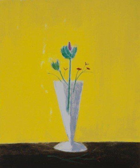 3: Craigie Aitchison (1926-2009) Thistle Still Life