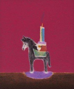 Craigie Aitchison (1926-2009) Donkey Candlestick