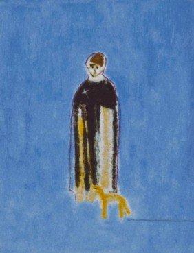 Craigie Aitchison (1926-2009) Priest And Dog