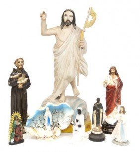13: A selection of religious iconography