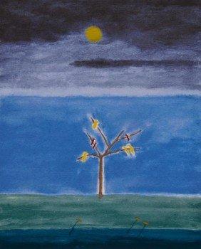 Craigie Aitchison (1926-2009) Birds On A Tree