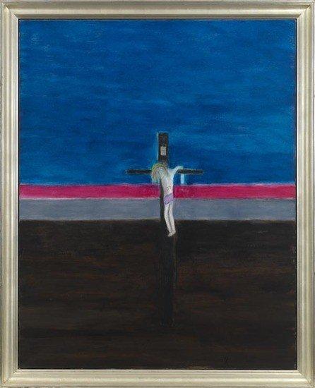 32: Craigie Aitchison (1926-2009) Crucifixion October