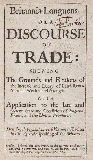 251: Petyt (William) Britannia Languens, or a Discourse