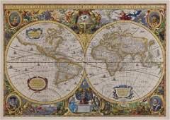 308: Hondius (Henricus) Nova Totius Terrarum orbis Geog