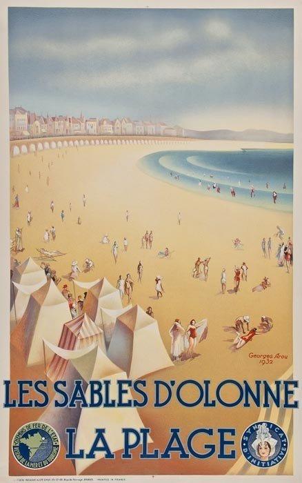 13: AROU, Georges LES SABLES D'OLONNE, LA PLAGE