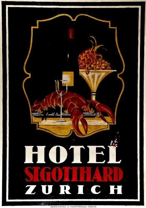 16: BAUMBERGER, Otto (1889-1961) HOTEL ST. GOTTHARD