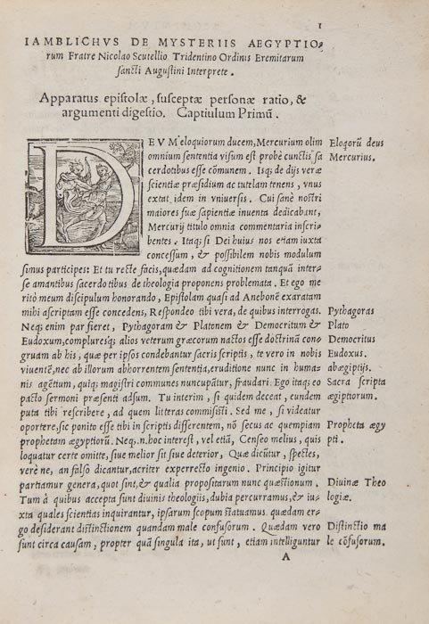 10: Iamblichus. De Mysteriis Aegyptiorum