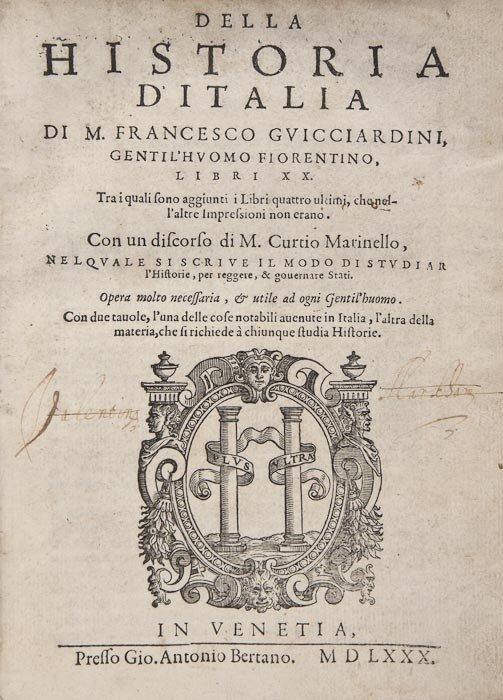 21: Guicciardini (Francesco) Della Historia d'Italia