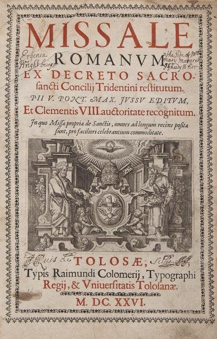 81: Missal. Missale Romanum ex Decreto Sacrosancti Con