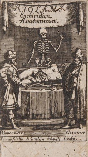 -. Riolan (Jean) Enchiridium Anatomicum Et Patholo