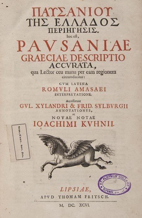 102: Pausanias. Graeciae Descriptio Accurata