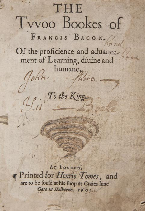 199: (Sir Francis) The Two Bookes...of the Proficience