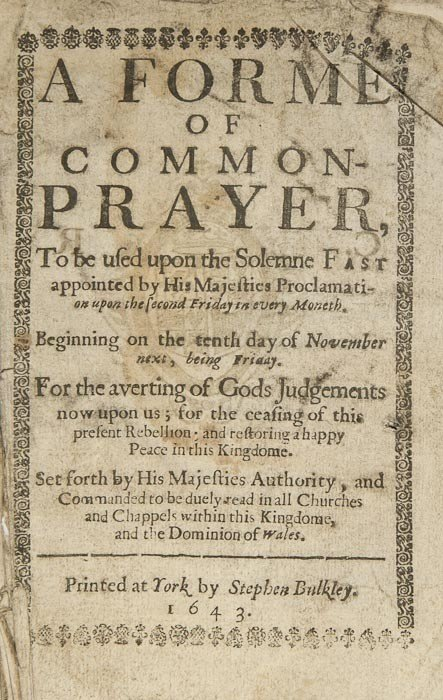 202: Book of Common Prayer.- A Forme of Common Prayer