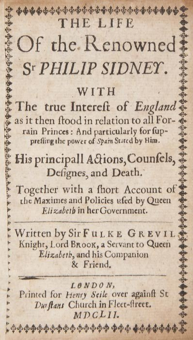 204: (Fulke, 1st Baron Brooke) The Life of the Renowned
