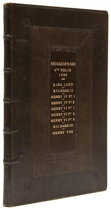 216: Shakespeare (William) [The Histories, except Henry