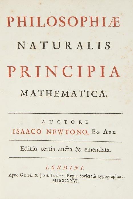 230: (Sir Isaac) Philosophiae Naturalis Principia Mathe