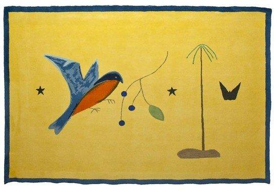 5: Craigie Aitchison (1926-2009) Blue Bird Yellow Lan