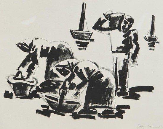 74: Josef Herman (1911-2000) Cockle Gatherers