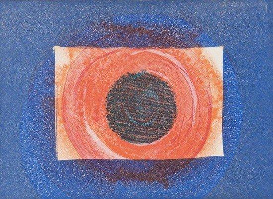 76: Howard Hodgkin (b.1932) Sun, from 'More Indian Vie