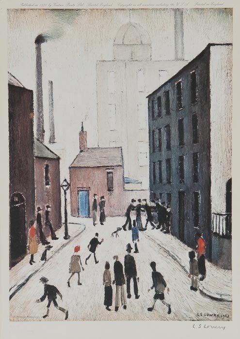 92: L.S. Lowry (1887-1976)(after) The Street Brawl
