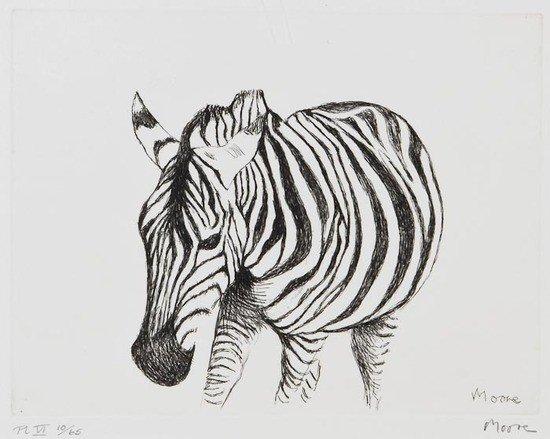 95: Henry Moore (1898-1986) Zebra (C.639)