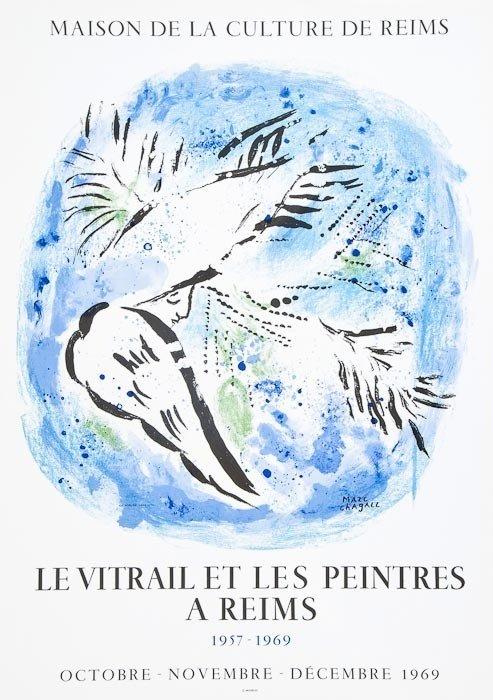 178: Marc Chagall (1887-1985)(after) L'Ange sur Fond Bl