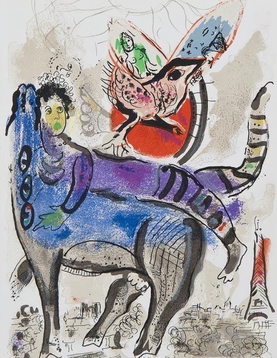 182: Marc Chagall (1887-1985) Blue Cow (m.488)