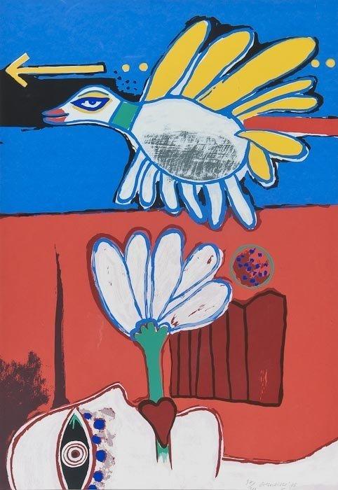190: Corneille (1922-2010) Untitled (Femme et Oiseau)