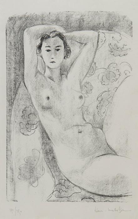 219: Henri Matisse (1869-1954) Nu Assis dans un Fauteui