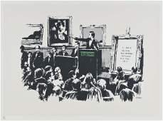 349: Banksy (b.1975) Morons (White)