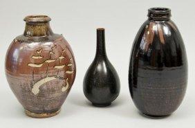 23: A British studio pottery vase