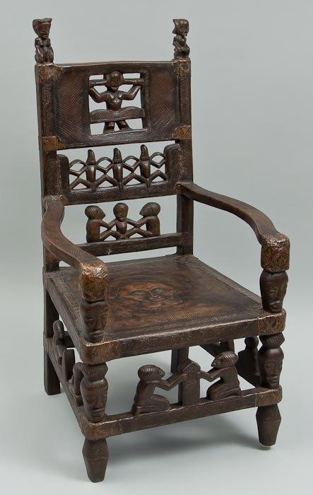 62: A Tchokwe maternity chair
